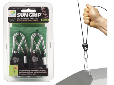 "SunGrip Light Hangers 1/8"" - The Original"