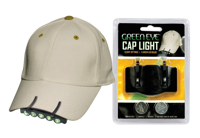 Green LED Cap Light