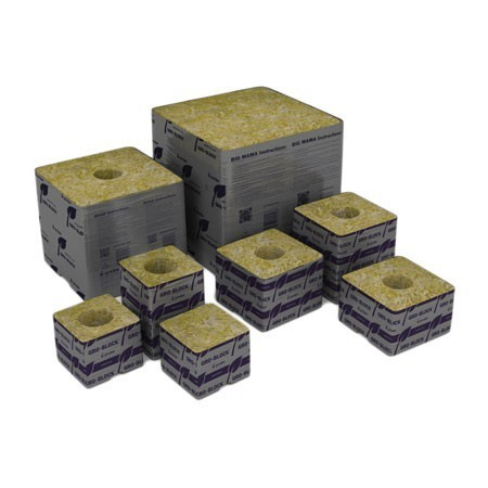 "Grodan Delta 5.6 - 3"" Gro-Block 3"" x 3"" x 4"" w/ Hole (strip of 8)"