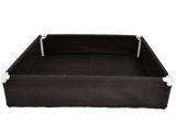 "Black GeoPlanter and Tray Liner 48"" x 48"" x 12"""
